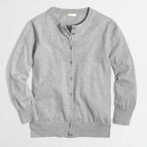 J Crew Clare Cardigan in Gray Button Down Size S